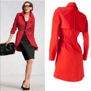 CAbi poppy red stretch convertible jacket